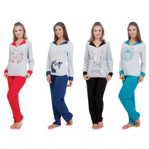 Pijama De Frio Flanelado Feminino Adulto Inverno