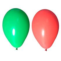 Balão Art-latex Nº7- Bexiga Para Festa Vermelho E Verde 100u