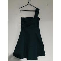 Vestido De Festa Curto Evasê - Verde - Mendry - Com Chale