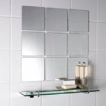 Kit Para Banheiro Espelho Com Prateleira