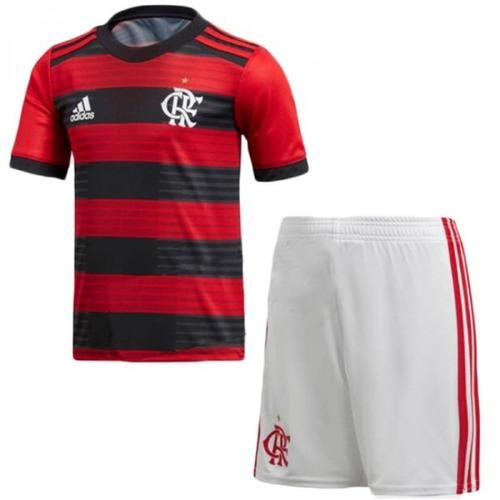 b7dfbb1e8a Uniforme Infantil Camisa E Shorts Flamengo Oficial 2018