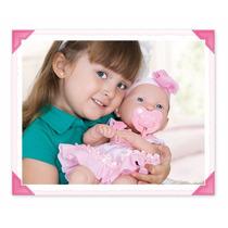 Boneca Ninos Baby Lindo Parece Bebê Verdade Rostinho Macio