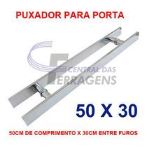 Puxador Retangular Aluminio 50cm X 30cm Para Porta De Vidro