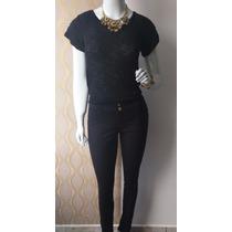 Calça Jeans Feminina Cintura Media /alta Com Lycra
