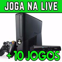 Xbox 360 Slim + 10 Jogos + Kinect + 1 Controle +frete Grátis