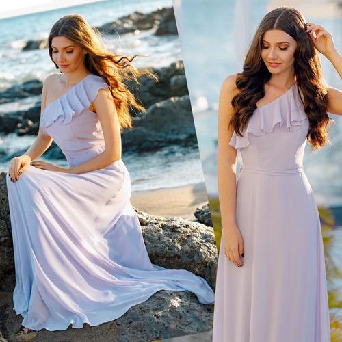 1b6fa47969 Vestido Lavanda M Madrinha Mãe De Noiva Casamento Campo Dia