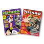 Kit Como 2 Revistas De Desenho Manga E Super-heróis