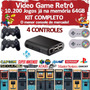 Video Game Retrô   Kodi   10.000 Jogos   4 Controles   64gb