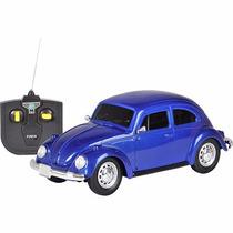 Carro Com Controle Remoto Fusca Escala 1:24 Azul - Cks