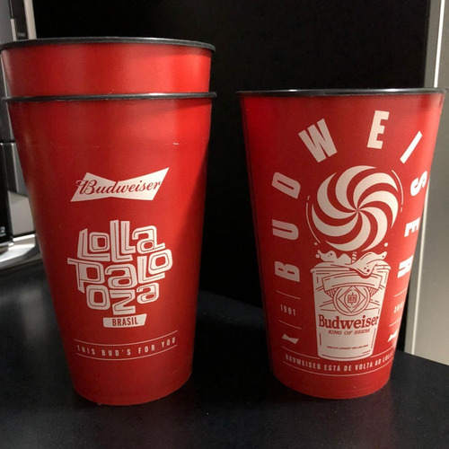 Copo Lollapalooza Budweiser 2018 Pearl Jam The Killers