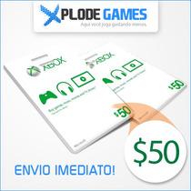 Xbox Live $50 - Xbox Live 50 - Xbox Live 50 Doláres