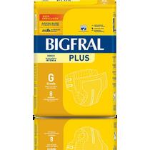 Fralda Geriátrica Bigfral Plus Compacta Grande Com 64 Und
