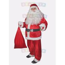 Papai Noel Com Barriga, Fantasia, Roupa Luxo Com Acessórios
