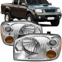 Farol Nissan Frontier 2003 2004 2005 2006 2007 Cromado