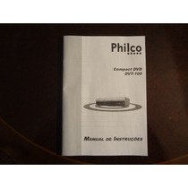 Manual Original Dvd Philco Dvt 100