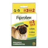 Kit Antipulgas Ceva Para Cães Até 10kg Fiprolex Drop Spot