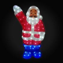 Papai Noel Iluminado Enfeite De Acrílico Natal Decoracao
