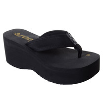 Chinelo Feminino Reef Liv Screen Preto