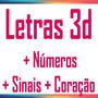 Silhouette - Letras, Sinais, Numeros E Coração 3d (.studio)