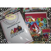 Kit Colorir Angry Birds Com Giz De Cera ( Artmovie)