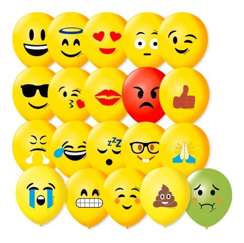 Balão (bexiga) Emoções C/50 São Roque - Emoji