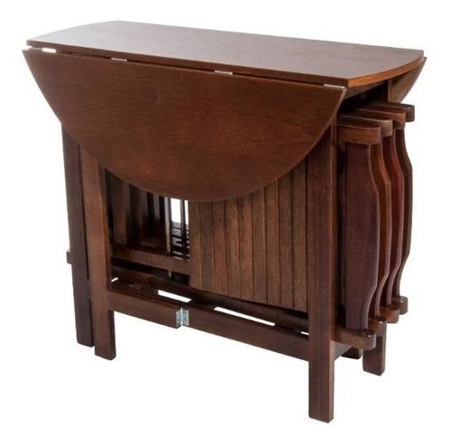 Conjunto Prático Dobrável Mesa 4 Cadeiras Bar