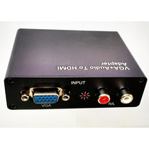 Adaptador Conversor Vga Para Hdmi Com Áudio P/xbox360 Ps3 Tv