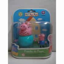 Peppa E Sua Família - Papai Pig E George Estrela