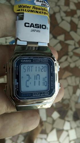 62223c1ee5b Relogio Casio A178 Prata Retro Vintage 100% Original R 129.99 l1alt ...