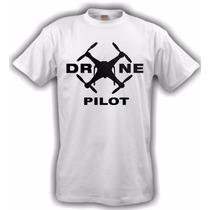 Camiseta Aeromodelismo Drone Pilot - Branca