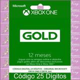 Xbox Live Gold 12 Meses Código 25 Dígitos Digital Oficial