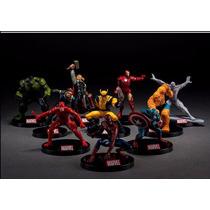 Kit Bonecos Marvel Estatuas Em Miniatura Frete Gratis