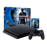 Sony Playstation 4 Slim 500gb Uncharted 4: A Thief's End Bundle Jet Black