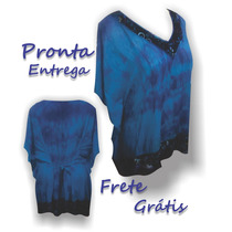 Bata Kaftan Indiana Tye Dye Tamanho Grande Blusa Plus Size