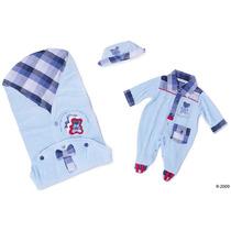 Saída Maternidade Plush Urso Azul Reve Dor - Rn