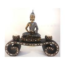 Buda Hindu Chakras Aparador Incensário Castiçal Vela Espelho