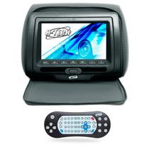 Encosto Cabeça Banco Leitor Dvd Tela 7 Pol Graf Com Ziper