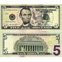 Cédula De Cinco (5) Dólares Americano Legitima Valida