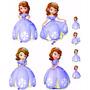 Kit Displays De Chão Princesa Shofia Com 8 Peças