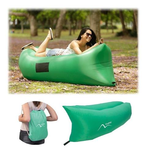 Sofá Inflável Verde Para Praia E Camping - Ezbag