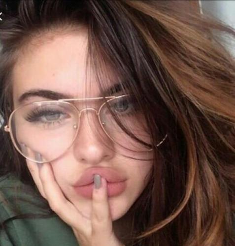 c9ad759ae2ac3 Óculos Sem Grau Aviador Feminino Transparente De Sol Barato. R  34.49