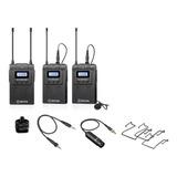 Kit De Microfones Boya By-wm8 Pro K2 Condensador Omnidirecional Preto