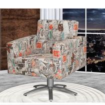Cadeira Poltrona Giratória Decorativas Sala De Estar Fratelo
