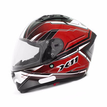 Capacete Moto X11 Impulse Com Viseira Solar Vermelho Tam 58