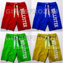Kit 3 Bermudas Moletom Hollister Masculina Short Atacado