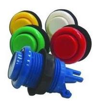 Kit Arcade Duplo 20 Botões Nylon +2 Comando + Micros
