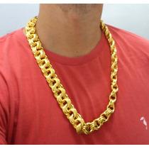 Corrente Cordão Banhado A Ouro Masculino Gigante Com 20mm
