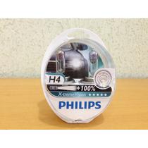 Lampada Philips X-treme Vision H4 60/55w 100% + Luz