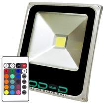 Refletor Led Holofote Rgb 10w Bivolt Color Controle H 040