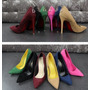 Sapato Salto Alto Bico Fino Scarpin Feminino Colorido